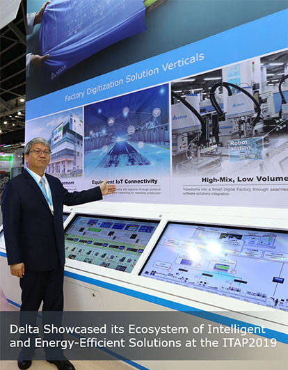 Delta Showcases Industrial Automation and Smart City Solutions for More Productivity and Energy Efficiency at ITAP 2019