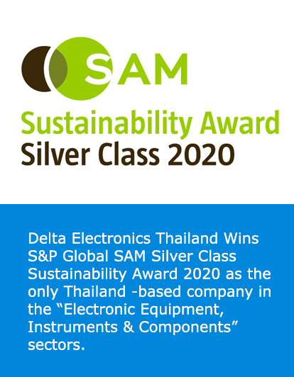 Delta Electronics Thailand Wins S&P Global SAM Silver Class Sustainability Award 2020