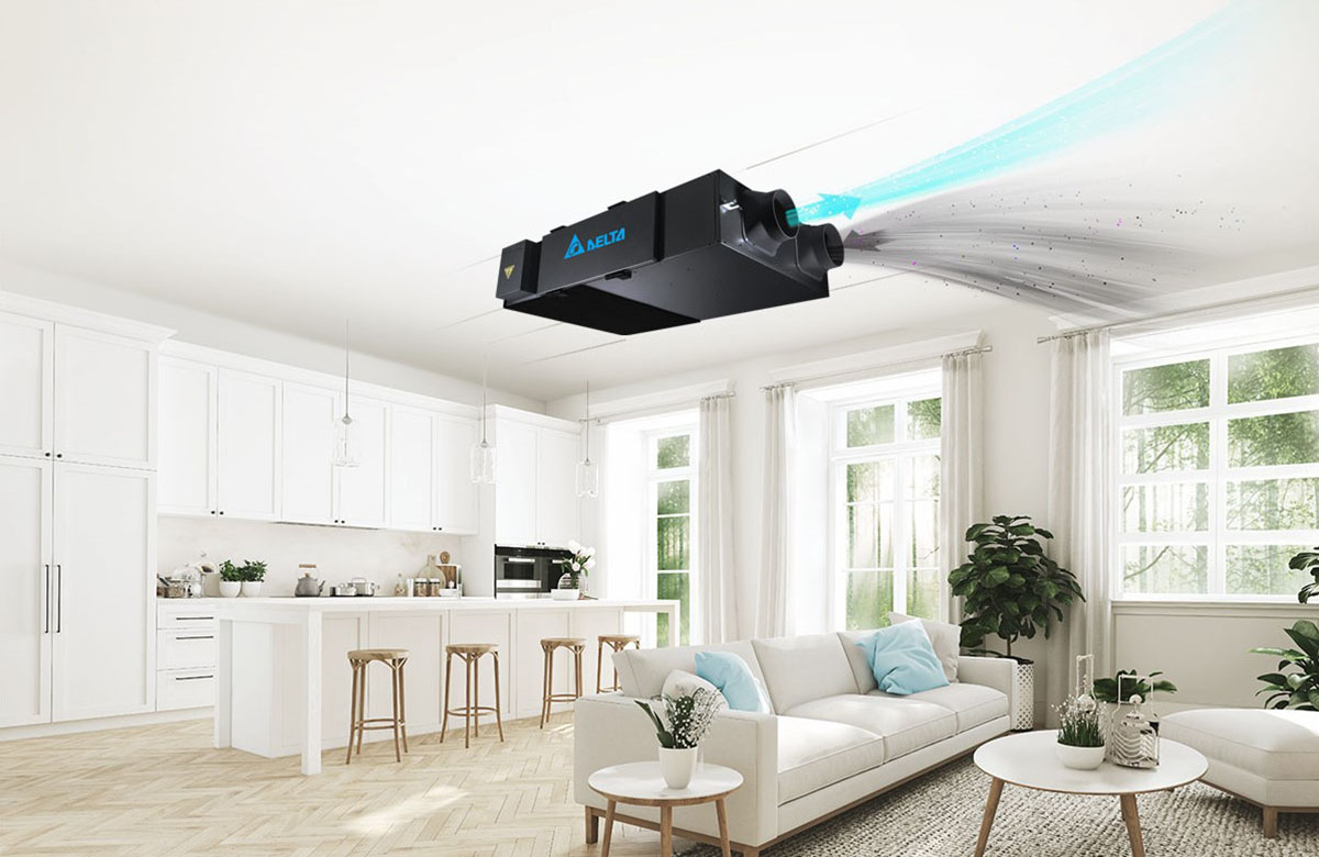 Delta Ceiling type Energy Recovery Ventilation