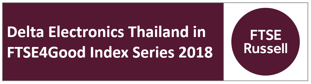 Delta Electronics Thailand in FTSE4Good Index Series 2018