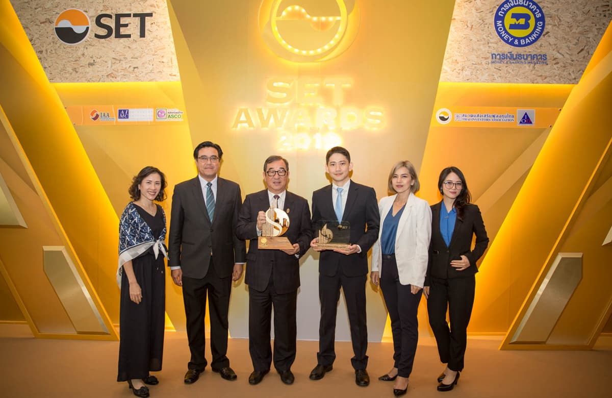 Best Sustainability Award and THSI Award at SET Sustainability Awards 2019