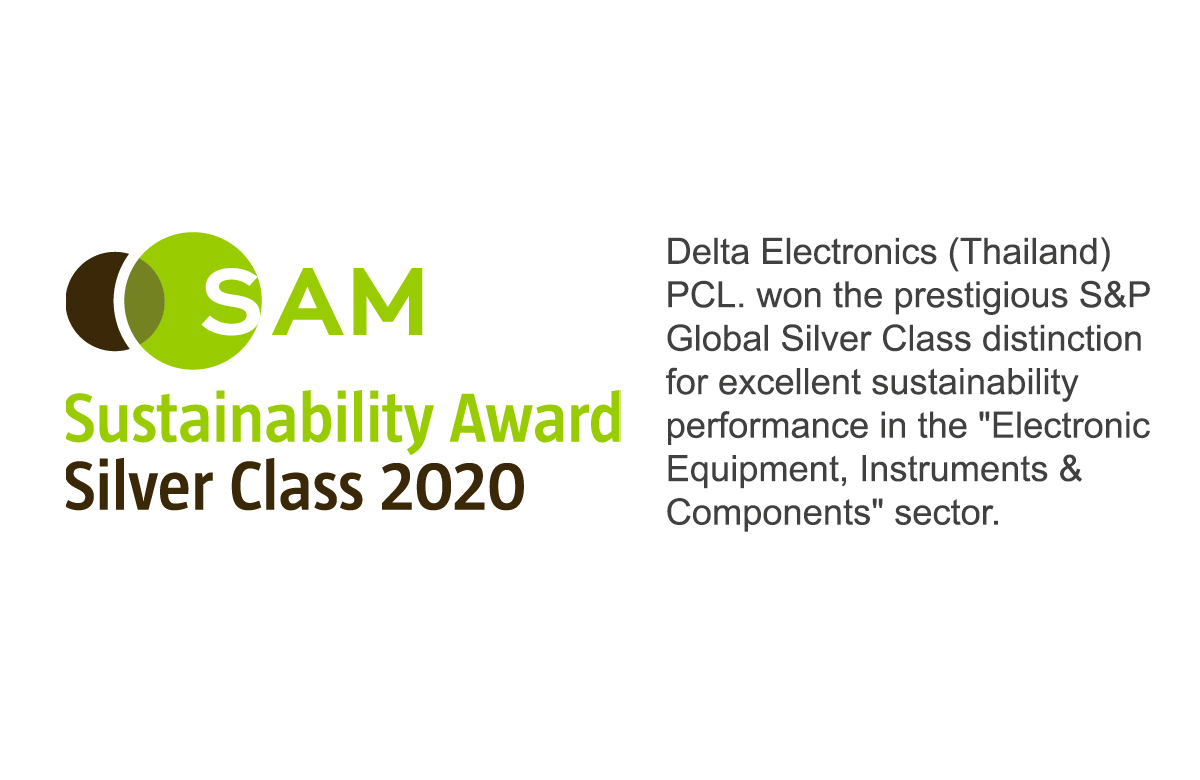 Delta - S&P Global SAM Silver Class Sustainability Award 2020